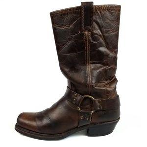 Frye 12R Harness Moto Boots Womens Size 8.5